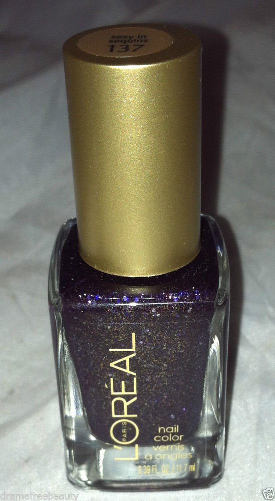L'Oreal Color Riche Gold Dust Textured Nail Polish * 137 SEXY IN SEQUINS * New