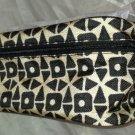 Estee Lauder Makeup/Cosmetics Bag Case Zipper Top Black Tan Brand New