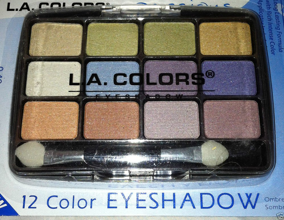 L.A. Colors 12 Color Eyeshadow Palette Set * BEP425 URBAN * Long Lasting New
