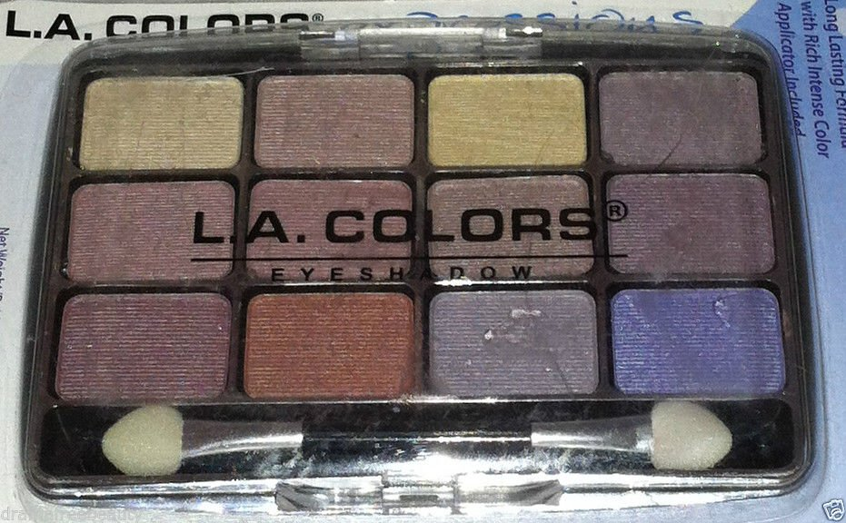 L.A. Colors 12 Color Eyeshadow Palette Set * BEP420 CHIC * Long Lasting New