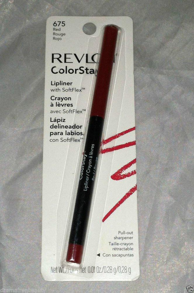 Revlon ColorStay Lipliner Crayon * 675 RED  * Sealed Brand New