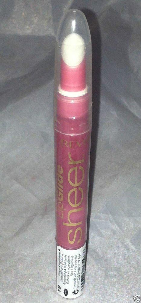 Revlon LipGlide Sheer Color Lip Gloss * 19 SHEERLY MELON * Sheer Watermelon Pink
