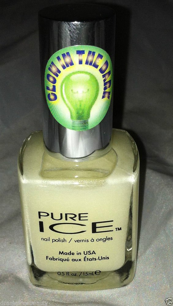 Pure ICE Nail Polish * 001 GLOW IN THE DARK * Brand New