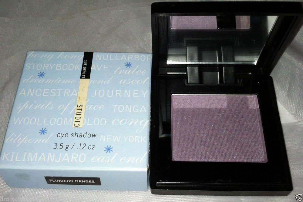 Sue Devitt Silky Eyeshadow *FLINDERS RANGES* Smoky Greyed/Violet Purple Sh. BNIB