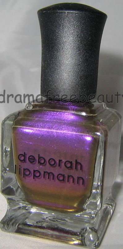 Deborah Lippmann Nail Polish *PRIVATE DANCER* Violet Purple Mirror Chrome B. New