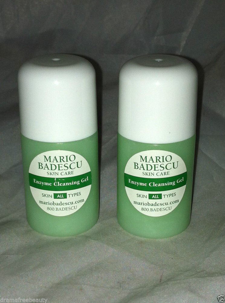Mario Badescu Enzyme Cleansing Gel All Skin Types 2pc Travel/Sample Lot