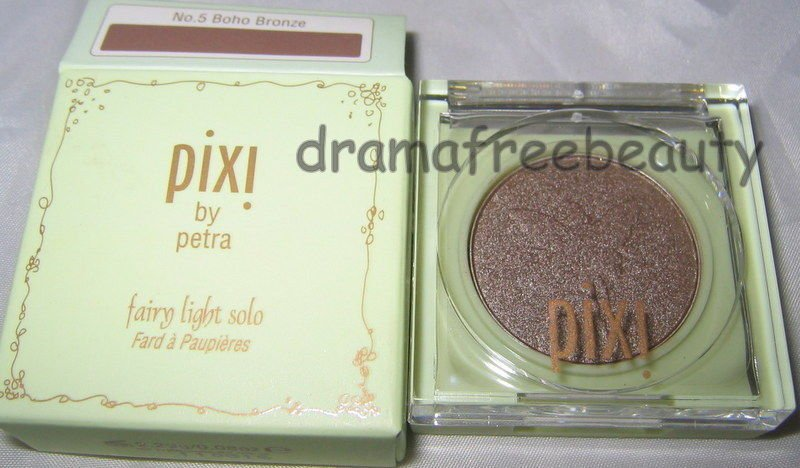 Pixi Fairy Light Solo Eye Shadow No.5 * BOHO BRONZE * Shimmery Brown Taupe BNIB