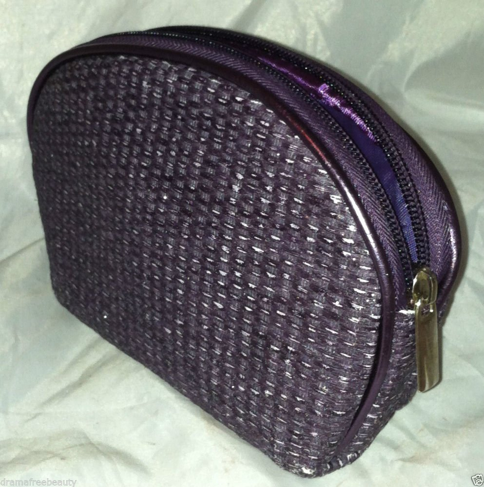 "Tarte Metallic Purple Makeup/Cosmetic Bag/Case 7"" X 5"" Brand New"
