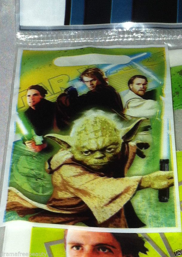 Star Wars Birthday Party Favor Candy Loot Prize Bag 8pc Yoda Jedi Sealed New