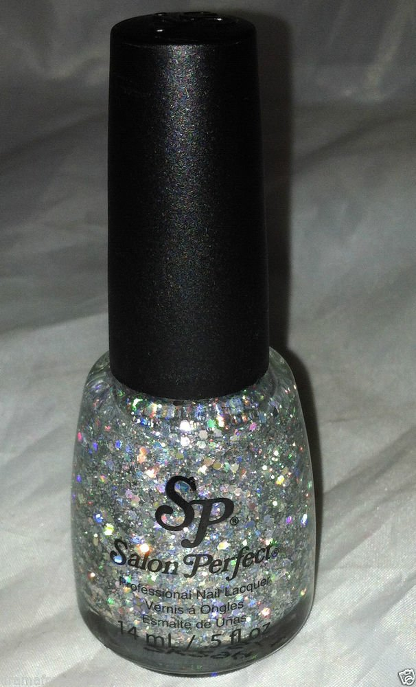 Salon Perfect Professional Nail Polish * 603 SILVER SPARKLER * Holographic Hex