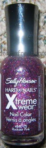 Sally Hansen Xtreme Wear Nail Polish *ROCKSTAR PINK* Fuchsia Red Blue Glitter BN