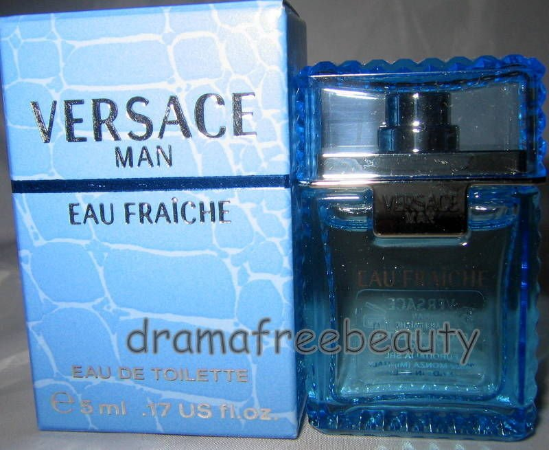 Versace Man *EAU FRAICHE* Eau De Toilette EDT .17 fl.oz. /5 ml. Travel Mini BNIB
