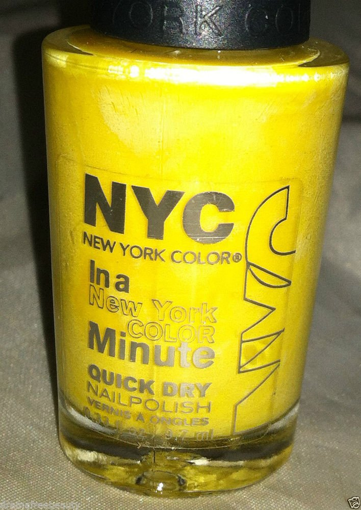 N.Y.C. New York Color In a Minute Nail Polish *LEXINGTON YELLOW* Quick Dry
