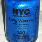 N.Y.C. New York Color Long Wearing Nail Polish *140 EMPIRE STATE BLUE* New