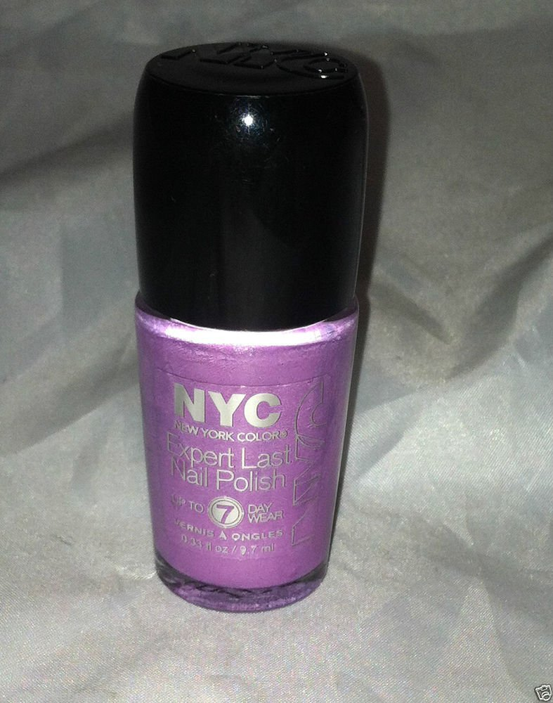 N.Y.C. New York Color Expert Last Nail Polish *255 LATE NIGHT LILAC* 7 Day Wear