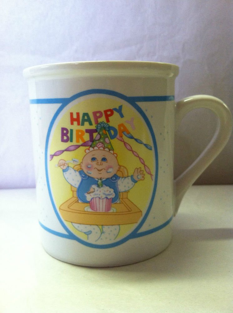 Vintage CABBAGE PATCH KIDS Coffee Mug/Cup 1985 O.A.A., Inc. *Happy 1st Birthday*