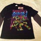 Teenage Mutant Ninja Turtles Long Sleeve Shirt Layered Look Boys Size XL BNWT