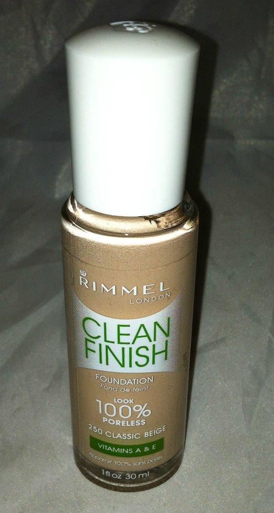 Rimmel Clean Finish Foundation # 240 Soft Beige Look 100% Poreless Vitamins A&E