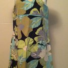 Old Navy Womens Size 10 Spaghetti Strap Halter Teal Green Blue Floral Sundress