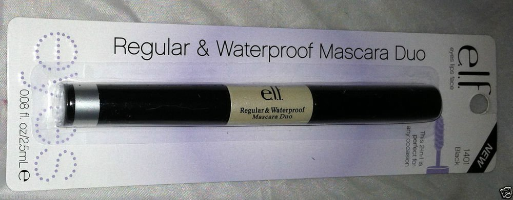 Elf Regular & Waterproof Duo Mascara * 1401 BLACK * Brand New Sealed