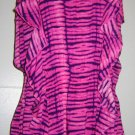 Victoria Secret Ruffled Pink/Purple TIE-DYE Sexy Swim Cover-Up Tunic Dress Sze M