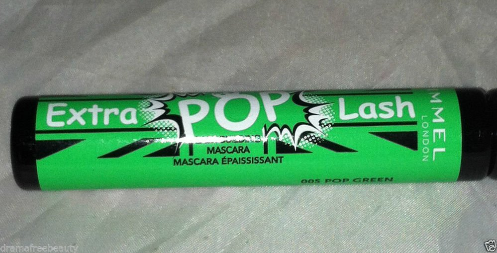 Rimmel Extra Pop Lash Building Mascara * 005 POP GREEN * Use Alone Or Over New