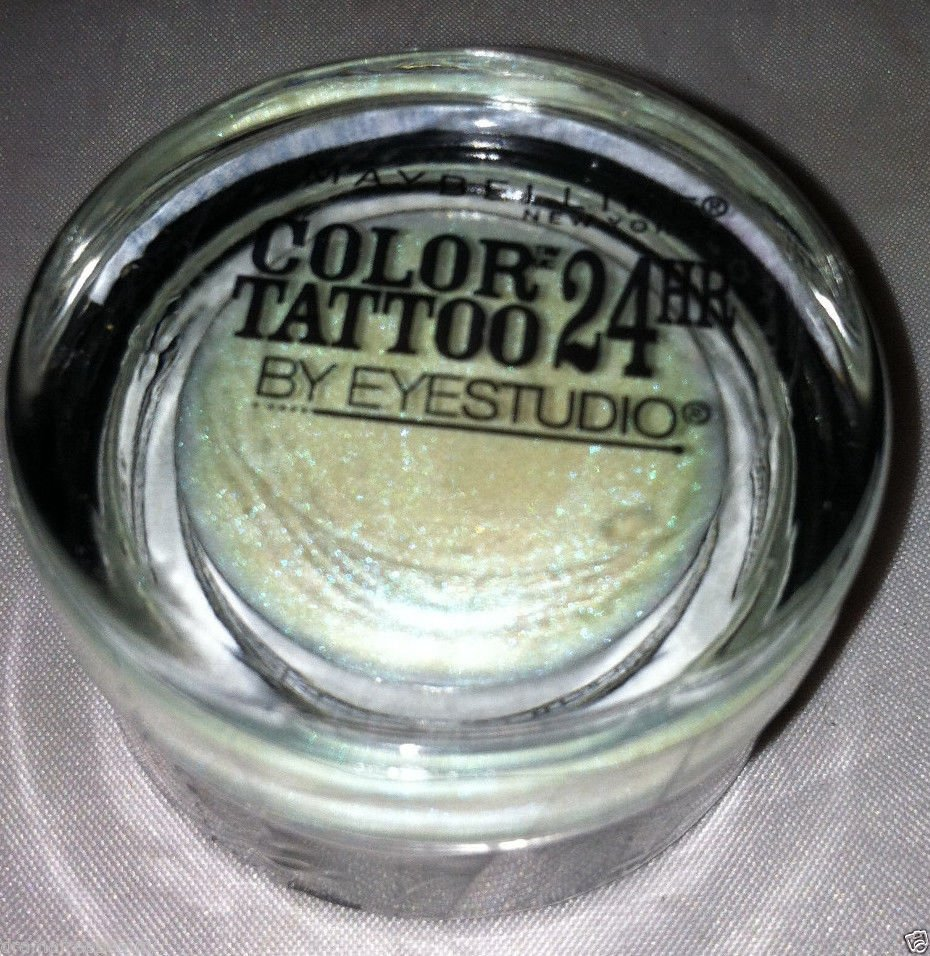 Maybelline Color Tattoo Cream Eyeshadow 20 *WAVES OF WHITE* White/Teal Duochrome