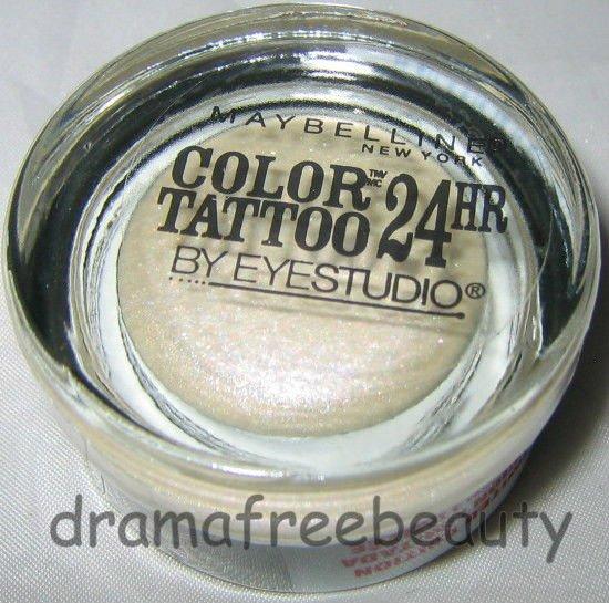 Maybelline COLOR TATTOO 24HR Cream Gel Eye Shadow Limited Ed 10 *PRECIOUS PEARL*