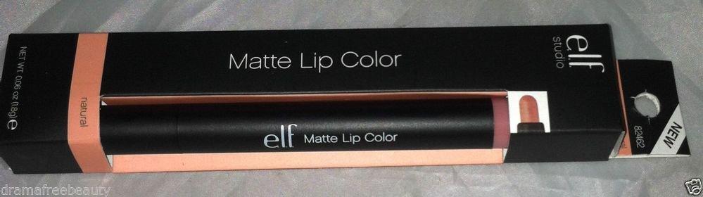 Elf Matte Lip Color Twist-Up Pencil/Lipstick * NATURAL * Neutral Mauve Pink BNIB