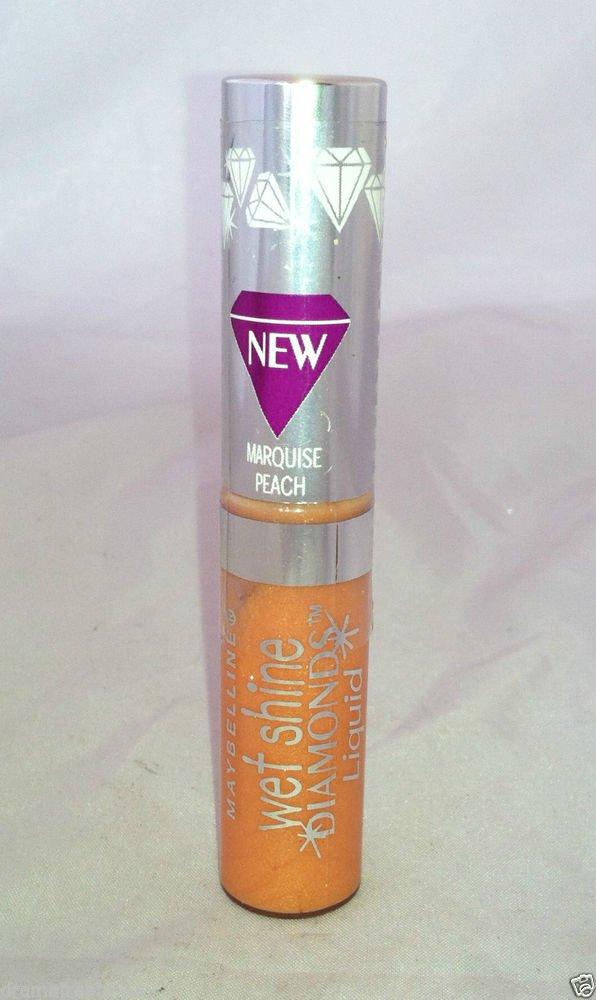 Maybelline Wet Shine Diamonds Liquid Lip Gloss *10 MARQUISE PEACH* Sealed NEW
