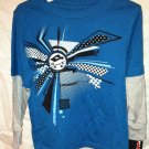 Boys Small ( 4 ) Blue w. Gray Long Sleeve Shirt and Beanie Cap TONY HAWK BNWT