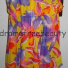 SOFIA Vergara Women's High-Low Yellow/Purple/Red Floral Ruffle DRESS Large/L NWT