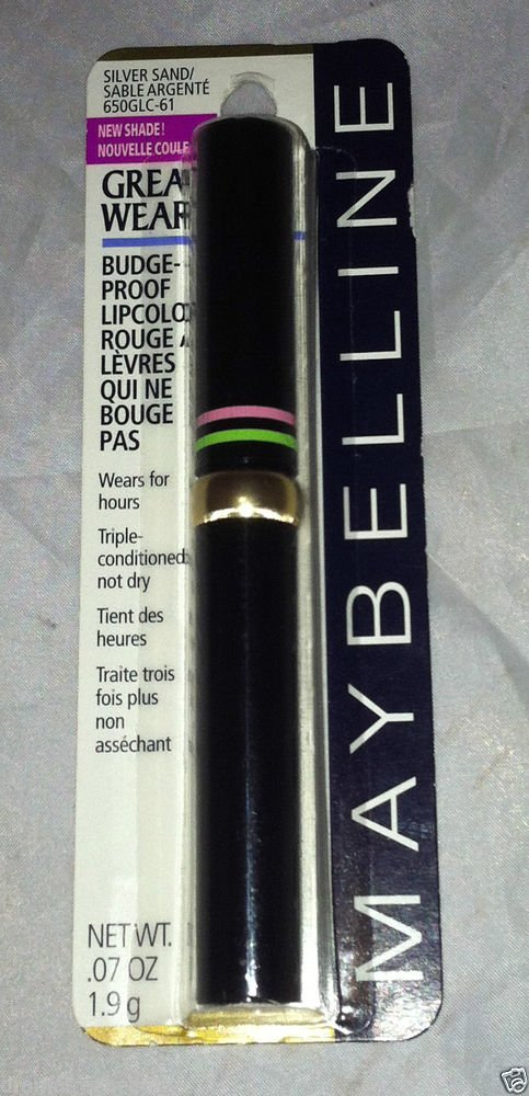 Maybelline Great Wear Budge Proof Lip Color * 331 SILVER SAND * Rare HTF Sealed