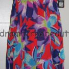 SOFIA Vergara Women's High-Low Red/Blue/Purple Floral Ruffle DRESS Medium/M BNWT
