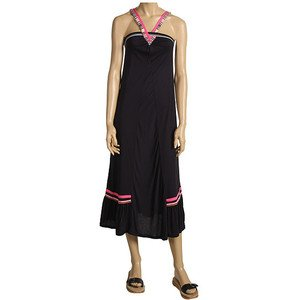 VANS Work & Play Slimming Maxi DRESS (Size XL) Navy/Pink w/Stripes BNWT $58+