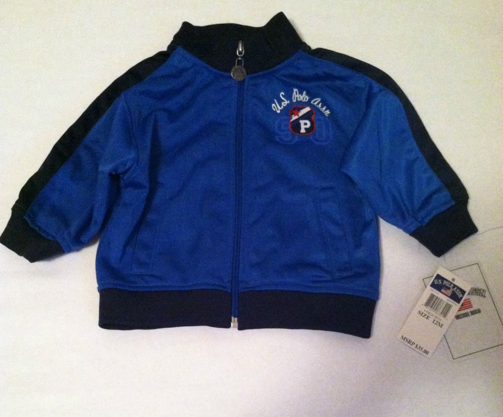 U.S. Polo Assn. Boys/Toddlers 12 month Blue Full Zip Jacket BNWT MSRP $35.00
