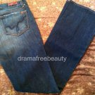 Blue 2 Jeans Stretch Womens size 30 Regular Rise Flare Leg Suede Wash New