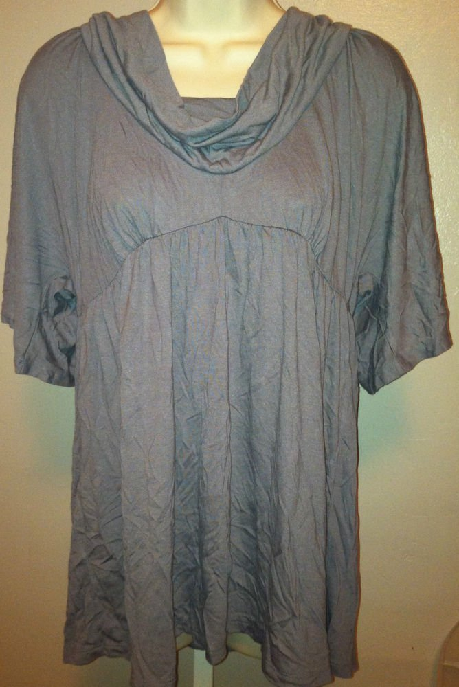 Old Navy Maternity Top Lightweight Gray/Taupe Medium Cowl Neck Design Stretch