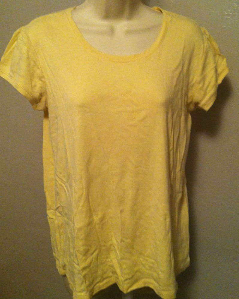 Oh Boy! By Motherhood Maternity Knit Short Sleeve Shirt Yellow Top