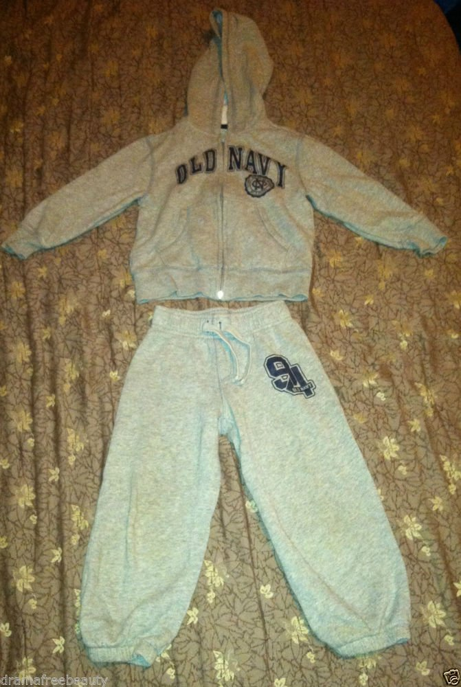 Old Navy Boys / Toddlers Track Suit / Outfit / Set Pant & Hooded Long Sleeve Top