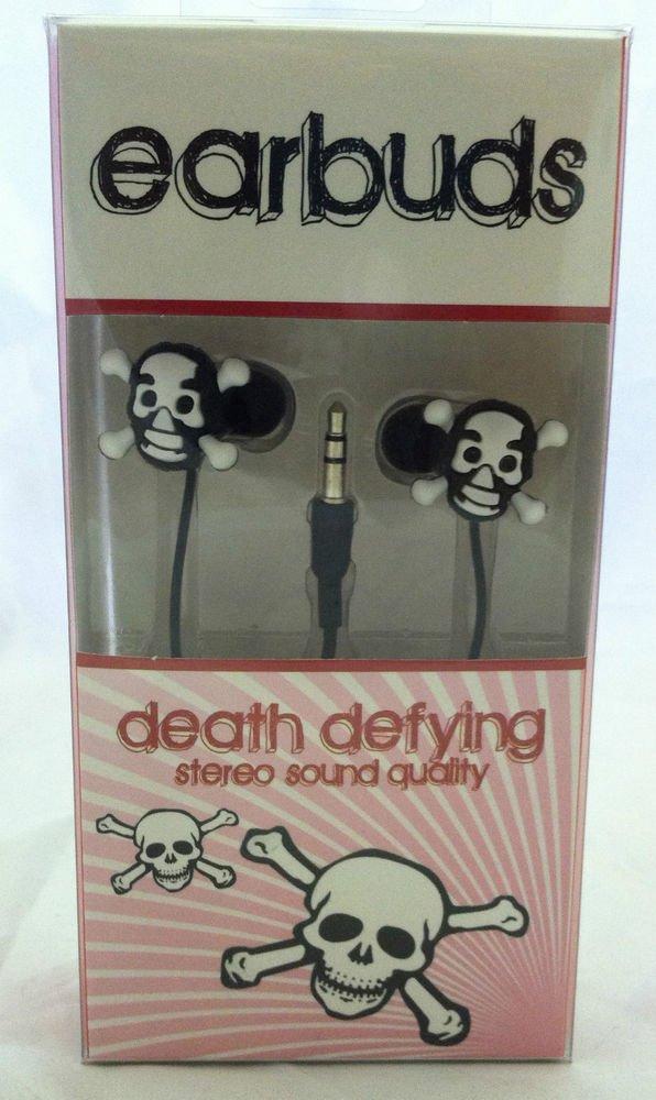 Vibe Sound canal earbuds Skulls Death Defying Stero Quality 3.5mm input jack NIB
