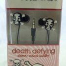 Vibe Sound canal earbuds Skulls Death Defying Stero Quality 3.5mm input jack NIB
