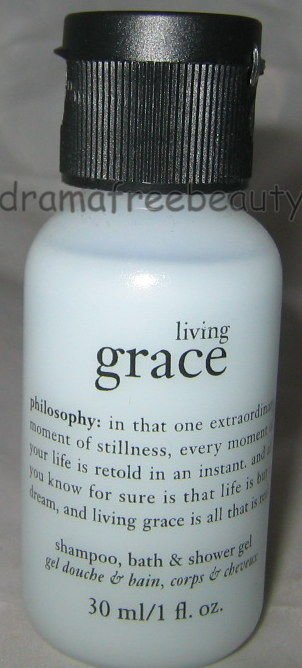 Philosophy *LIVING GRACE* Shampoo Bath & Shower Gel 30ml./1oz. Travel Mini B New