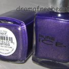 Pure Ice VELOUR Suede Finish Nail Polish in *TEMPTRESS* Dark Purple w/Gold BNew