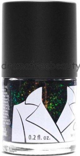 Coastal Scents COAT Universe Nail Polish *COSMIC* Black Creme Iridescent Flakies