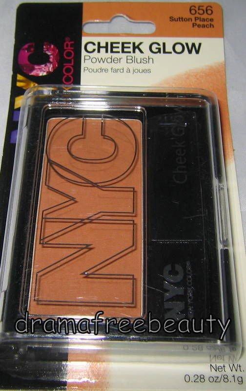 New York Color NYC Cheek Glow Powder Blush 656 *SUTTON PLACE PEACH* Matte Peach