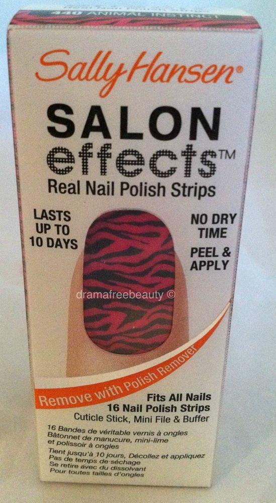 Sally Hansen Salon Effects Real Nail Polish 16 strips #440 Animal Instinct BNIB