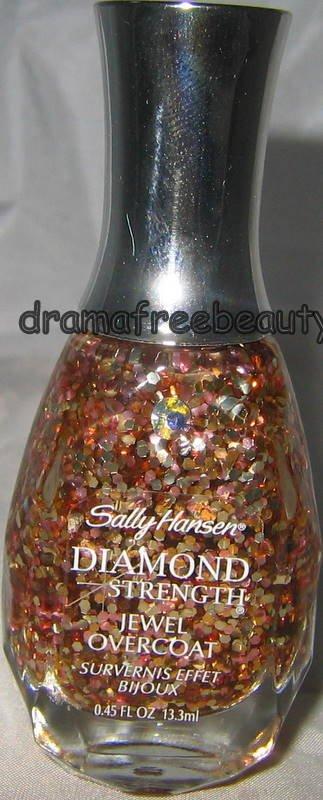 Sally Hansen Diamond Strength Jewel Overcoat RING-A-DING Copper Gold Hex Glitter