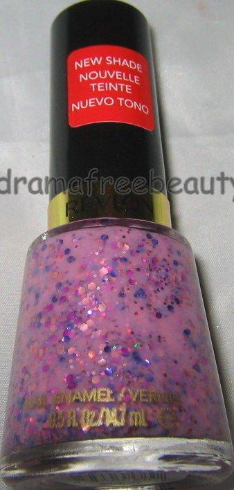 BN Revlon BUBBLE GUM DAYS Nail Polish 260 *GIRLY*  Milky Pink Purple Hex Glitter