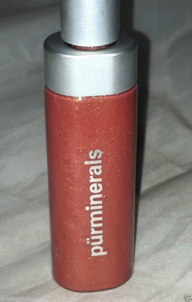 Purminerals Pout Plumping Lip Gloss * PEARL DUST * Light Pink with Shimmer New